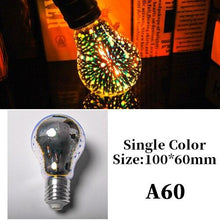 Load image into Gallery viewer, Star E27 Vintage Edison 3D Led Bulb Colorful Night Light