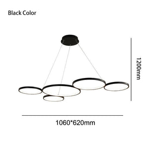 White/Black Modern LED Suspension Lights