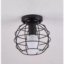 Load image into Gallery viewer, Modern nordic black wrought iron E27 led ceiling lamps