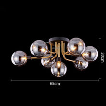 Load image into Gallery viewer, Nordic Light Luxury LED Glass Modern Hanging Ceiling Lamps Fixures