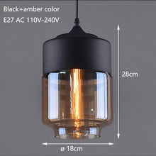 Load image into Gallery viewer, Nordic Modern loft hanging Glass Pendant Lamp Fixtures