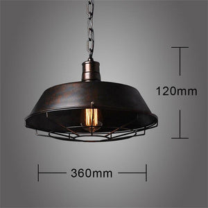 Vintage Loft LED Black Metal Pendant Industrial Decor Lighting Fixtures