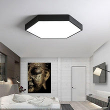 Load image into Gallery viewer, Surface Mount Flush Panel Remote Control Hexagon LED Ceiling Light