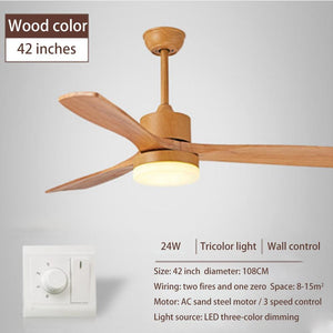 LED Wooden Ceiling Fans lamp For Living Room
