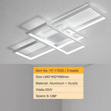 Load image into Gallery viewer, Black or White Cross Aluminum Modern Led Ceiling Chandelier
