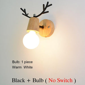 Nordic macaron antler modern Led indoor stair wall lamp fixture