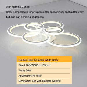 Double Glow Remote Controller Dimmable Ceiling Chandelier