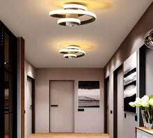 Load image into Gallery viewer, Black&White Corridor Metal Modern Ceiling Lamp