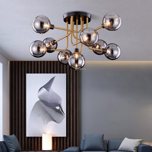 Nordic Light Luxury LED Glass Modern Hanging Ceiling Lamps Fixures
