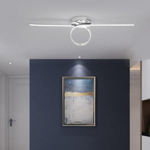 Gold/Chrome Plated Stylish Modern Ring Unique LED Ceiling Lights Fixtures