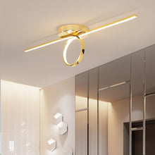 Load image into Gallery viewer, Gold/Chrome Plated Stylish Modern Ring Unique LED Ceiling Lights Fixtures