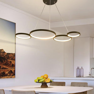 Lighting Garner - White/Black Modern LED Suspension Lights
