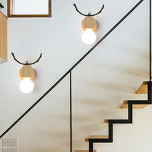 Load image into Gallery viewer, Nordic macaron antler modern Led indoor stair wall lamp fixture