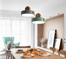 Load image into Gallery viewer, Nordic LED Pendant Lights With Metal Lampshade