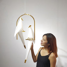 Load image into Gallery viewer, Nordic Origami Crane Bird Pendant Lamp