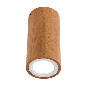 Corridor Small Round Wooden Ceiling Lamp