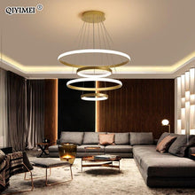 Load image into Gallery viewer, Modern LED Circle Rings aluminum  Pendant lights