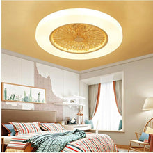 Load image into Gallery viewer, LED dimming remote control ceiling Fans lamp With Invisible Leaves