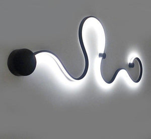 Nordic designer simple creative wall lamps with white or balck color