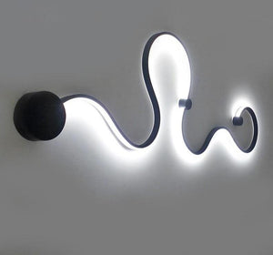 Snaky Acrylic White Black Iron Body SconceLED Lights Fixtures