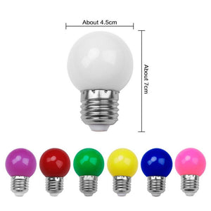 E27 Colorful Globe Bulbs