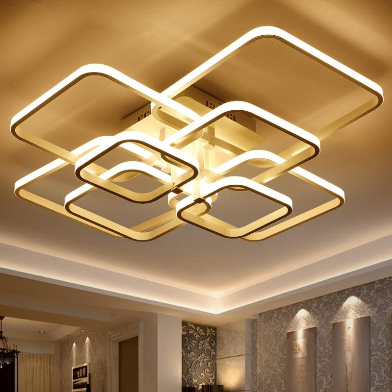 Square Circle Rings Ceiling Lights For Living Room