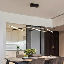 Load image into Gallery viewer, Matte Black or Grey Minimalist Modern Living Room LED Pendant Lights Fixtures