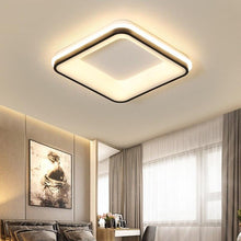 Load image into Gallery viewer, Black+White Square/Round Finished Modern LED Ceiling Chandelier Fixtures