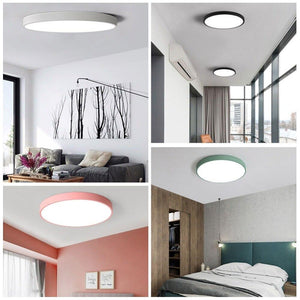 Flush Panel Remote Control LED Ceiling Modern Lighting Fixture