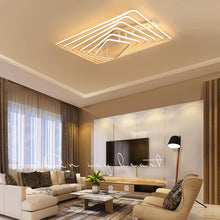 Load image into Gallery viewer, White Square LED remote control dimming ceiling lamp