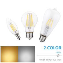 Load image into Gallery viewer, Vintage Filament Led Bulb E27 Dimmable Lamp For Chandelier Lighting