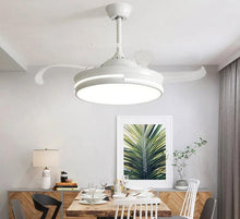 Load image into Gallery viewer, Modern 220V Wooden Led Ceiling Fans Lamp With  Remote Control