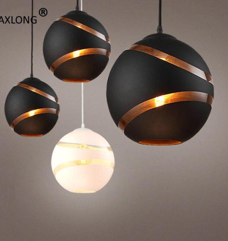 Modern Nordic Globe Retro Ball Bubble Pendant Lights