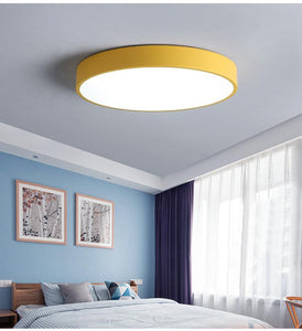 Round Macarons Color Nordic Simple LED Ceiling Lights