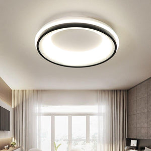 Black+White Square/Round Finished Modern LED Ceiling Chandelier Fixtures