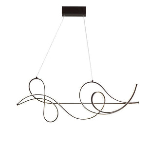 Modern Coffee Finish Hanging Chandelier Fixture