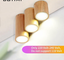 Load image into Gallery viewer, Corridor Small Round Wooden Ceiling Lamp