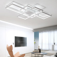 Load image into Gallery viewer, Lighting Garner - Black or White Cross Aluminum Modern Led Ceiling Chandelier