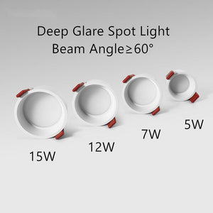 Flickering Deep Glare LED COB Recessed Downlight