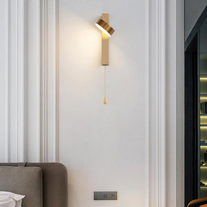 Nordic Minimalist Design Golden Stair wall Light with Switch