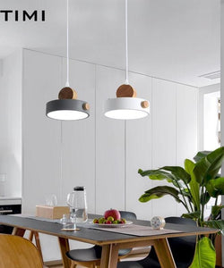 Nordic LED Pendant Lights With Metal Lampshade