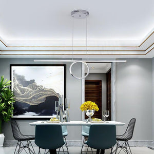 Gold/Chrome Plated Stylish Modern Ring UUnique LED Ceiling Lights Fixtures