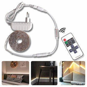 5M LED light Strip Waterproof 2835 Ribbon LED Strip Dimmable Touch Sensor Switch