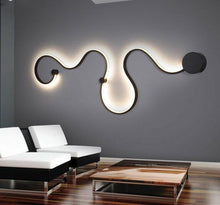 Load image into Gallery viewer, Snaky Acrylic White Black Iron Body SconceLED Lights Fixtures