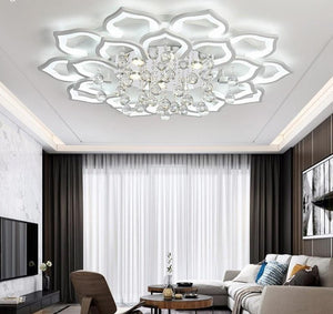 Crystal LED Ceiling Lights For Living Room bedroom with remote control