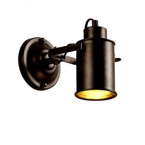 American Retro Country Loft Style E27 Industrial Vintage Iron Wall Lamp