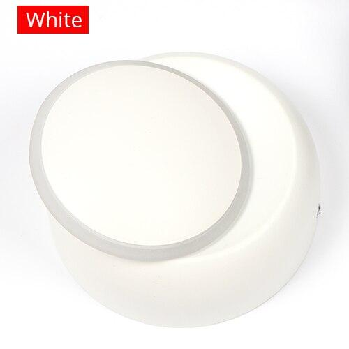 5W LED 360 Degree Rotation Adjustable Aluminum Modern Creative Crescent Shape Round Wall Lamp