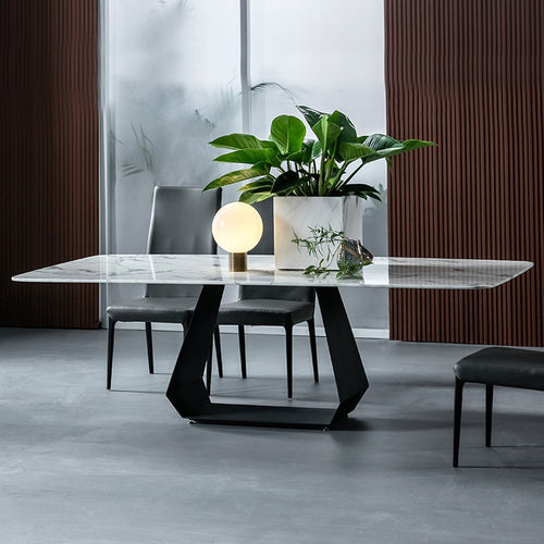Marble dining table set furniture