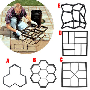 Manually Paving Cement Brick Concrete Molds DIY Plastic Path Maker
