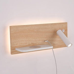 ZEROUNO bedroom phone wireless charger shelf wall Lights Hotel Bedside Headboard led Reading Lighting USB Luminaire Lamp backlit